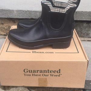 LLBean Black Wellie, Women's Size 7 Rain Boots *